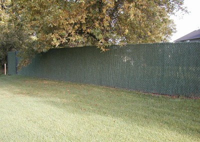 Vinyl Coated Chain Link Fence w/ Hedge Lock