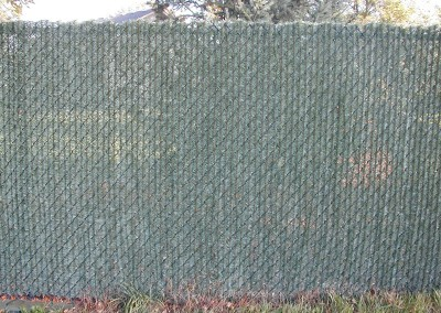 Vinyl Coated Chain Link Fence w/ Hedge Lock Slats
