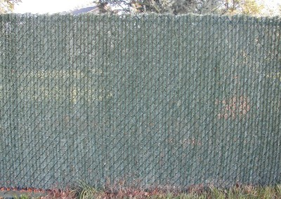Hedge Lock Chain Link Fence w/ Slats