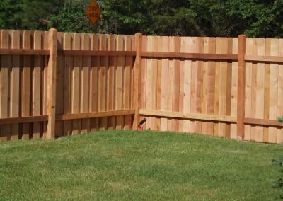 Board on Board Fence Inside View
