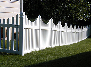 Maintenance Free Vinyl Picket Fence