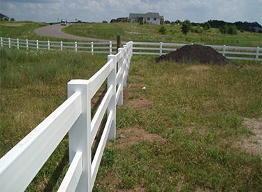 Maintenance Free Vinyl Ranch Style Fence