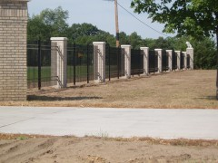 Aluminum Ornamental Fence w/ Columns View One