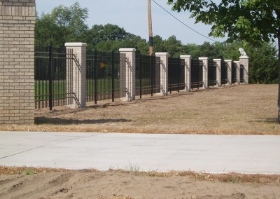 Aluminum Ornamental Fence w/ Columns View One