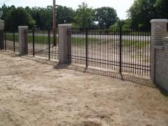 Ornamental Aluminum Fence w/ Columns