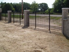 Aluminum Ornamental Fence w/ Columns View Two
