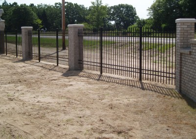 Aluminum Ornamental Fence w/ Columns View Two
