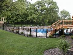 Ornamental Fence w/ Spear Arched Gate