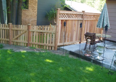 Cedar Privacy Solid Board / Picket Combo Fence