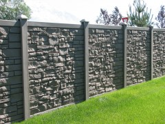Simtek Vinyl Privacy Fence w/ Stone Look