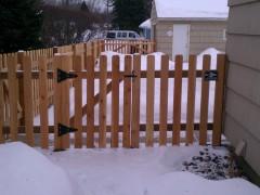Traditional Cedar Dog Eared Picket Gate