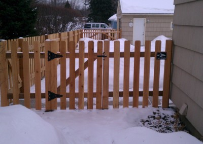 Traditional Cedar Dog Eared Picket Gate