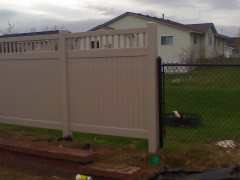 Vinyl Privacy Fence w/ Chain Link
