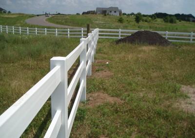 White Vinyl Ranch Fence