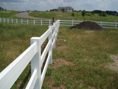Vinyl Ranch Style Fence