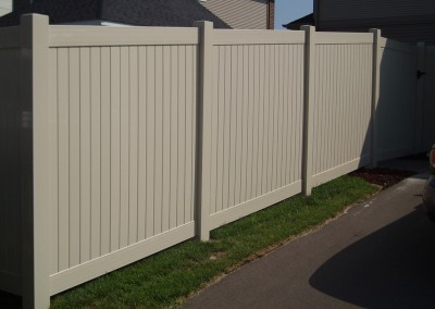 Vinyl Tongue & Groove Privacy Fence