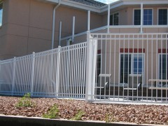 White Aluminum 3 Rail Closed Picket Fence