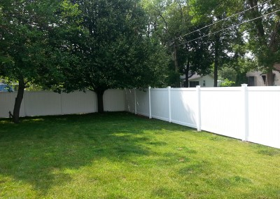 White Vinyl Privacy Fence