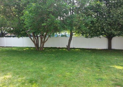 White Vinyl Privay Fence 1