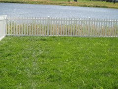 Wide Vinyl Picket Fence w/ Wide Spacing