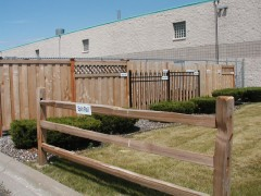 Wooden Fence Display